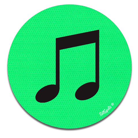 Music Note - Bright Green