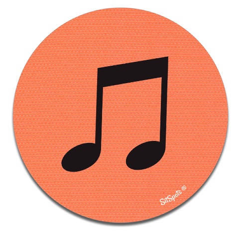 Music Note - Bright Orange