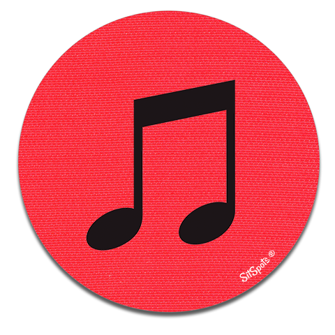 Music Note - Bright Red