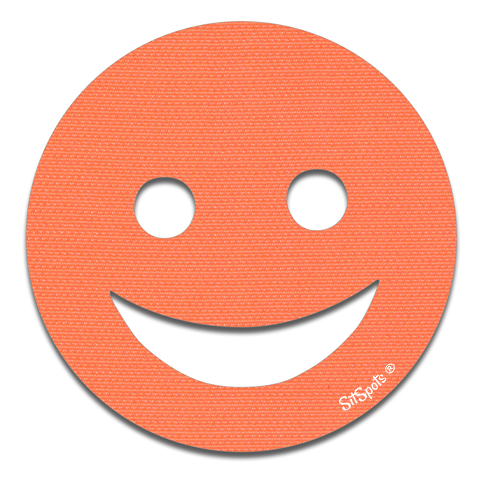 Happy Face - Bright Orange