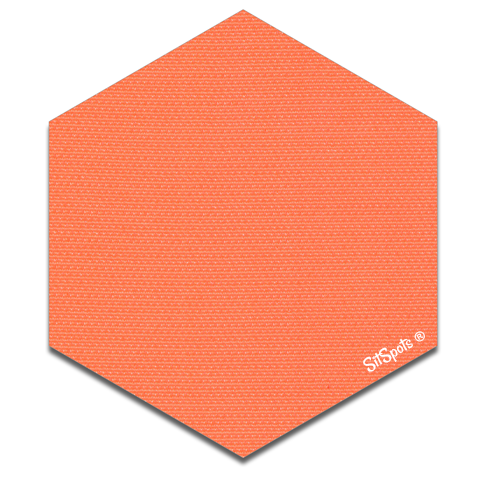 Hexagon - Bright Orange