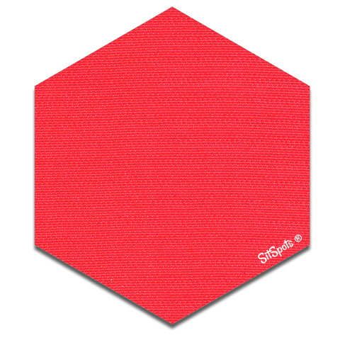 Hexagon - Bright Red