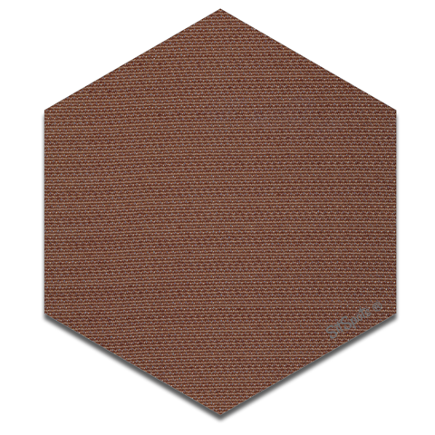 Hexagon - Brown
