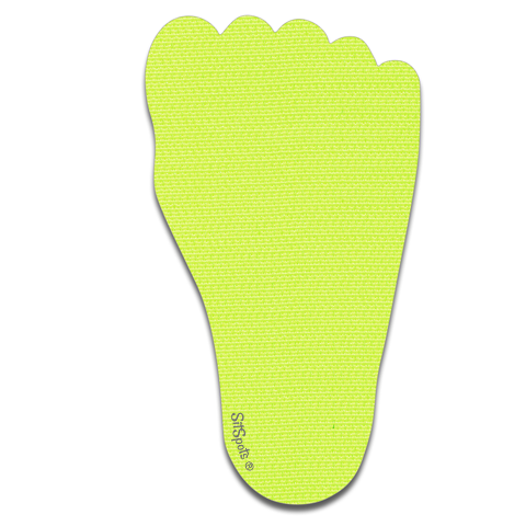 Footprint Right - Bright Yellow