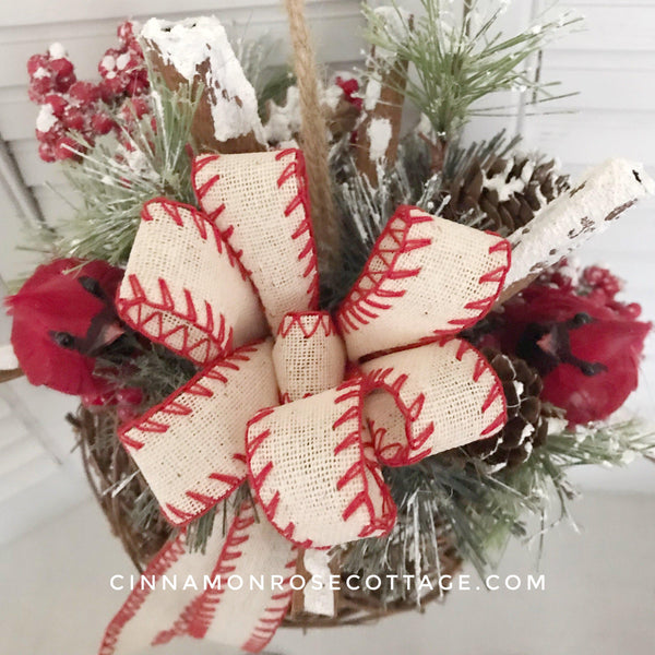 Grapevine Ball With Cardinals-Cinnamon Rose Cottage