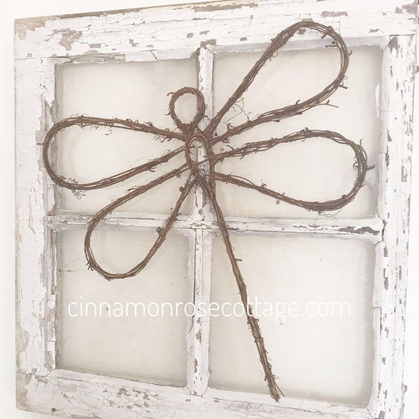 "Large Vine Dragonfly 13"" Sale-Twig And Vines-Cinnamon Rose Cottage"
