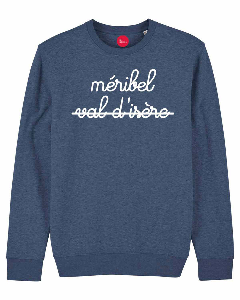 sweat bleu homme méribel