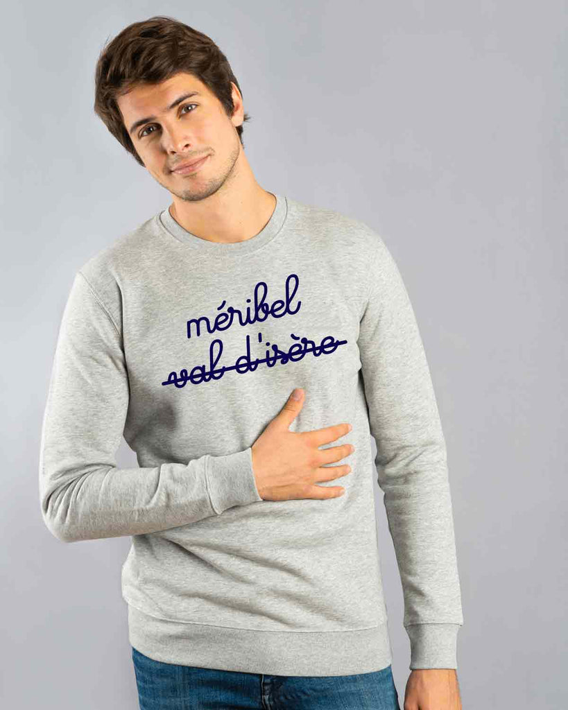 sweat gris homme méribel