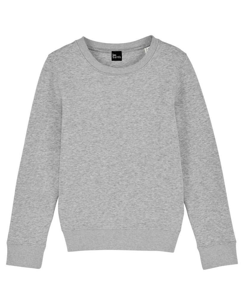 Sweat-shirt gris chiné