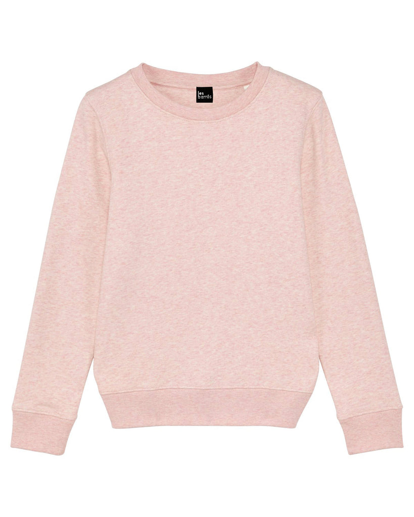 sweat-shirt rose chiné enfant