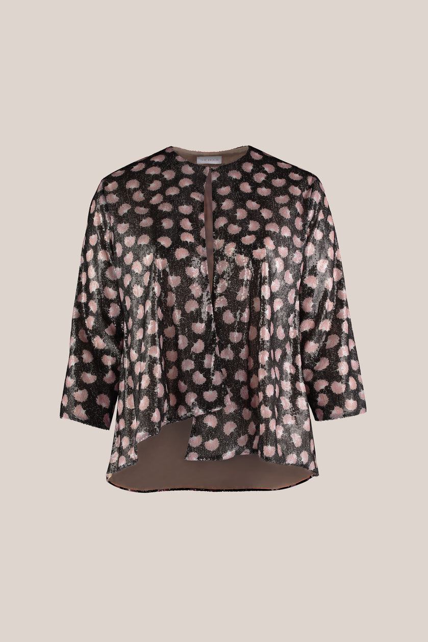 luxury plus size evening sequin jacket lined in silk