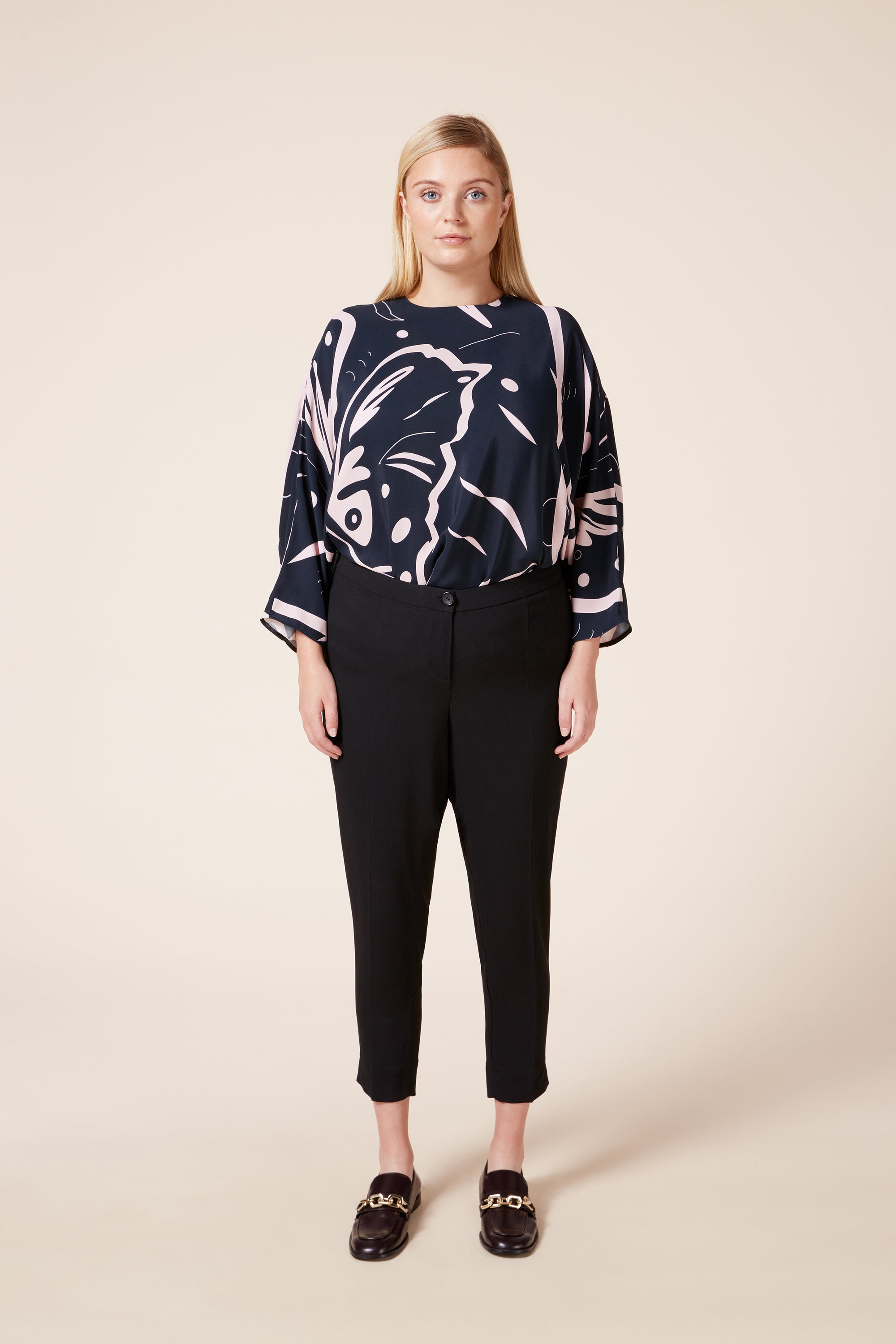 Plus size tailored trousers