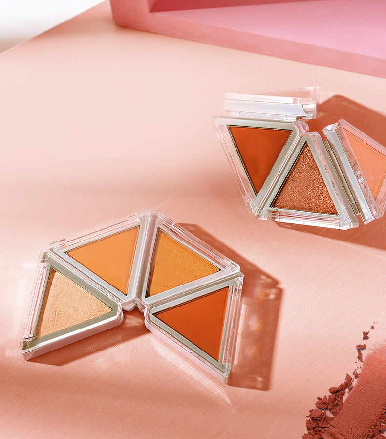 Foldable Triangle Eyeshadow Palette