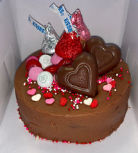 Load image into Gallery viewer, Mini Kiss & Wishes Valentines Cake