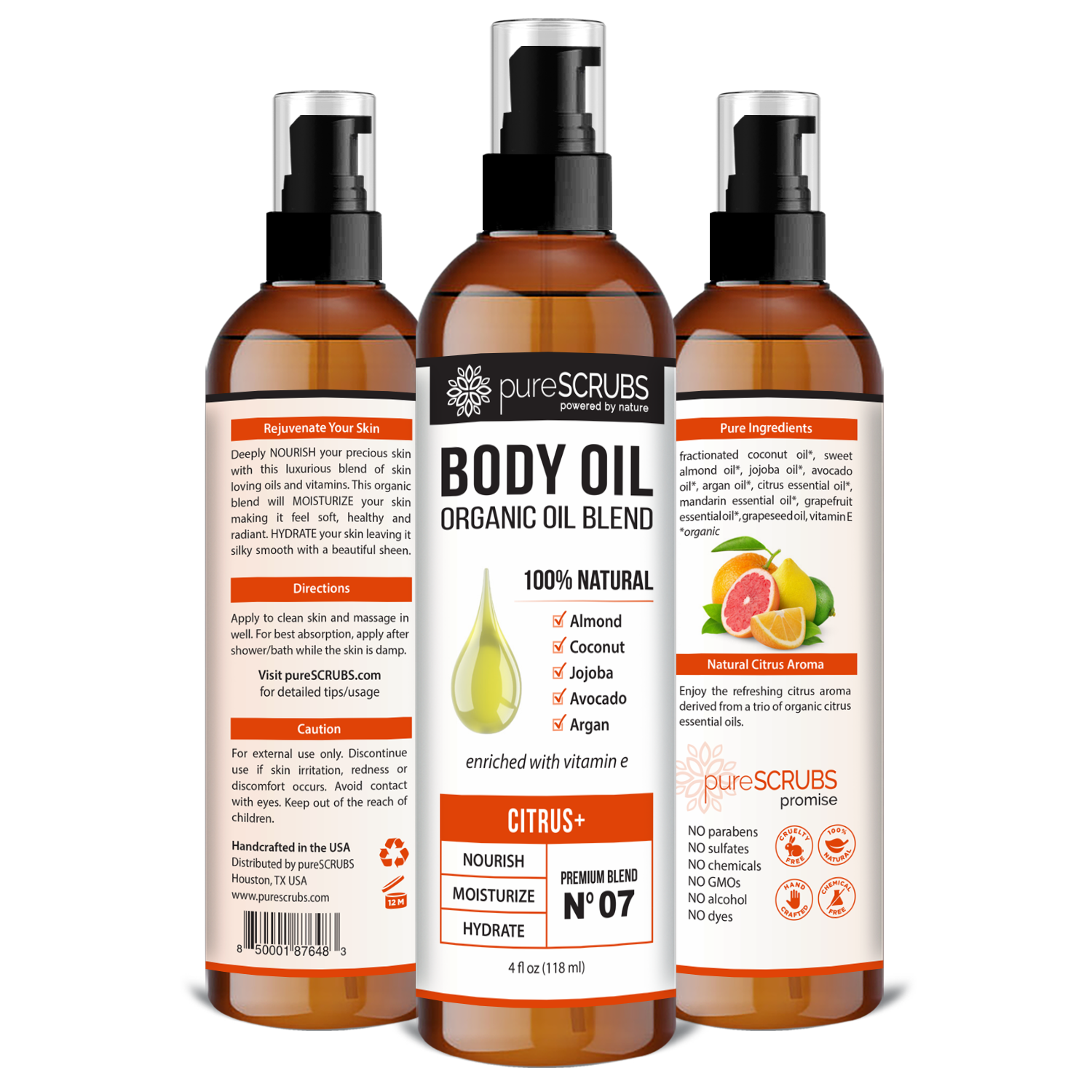 Citrus+ Body Oil / Ultra Moisturizing / Premium Blend #07