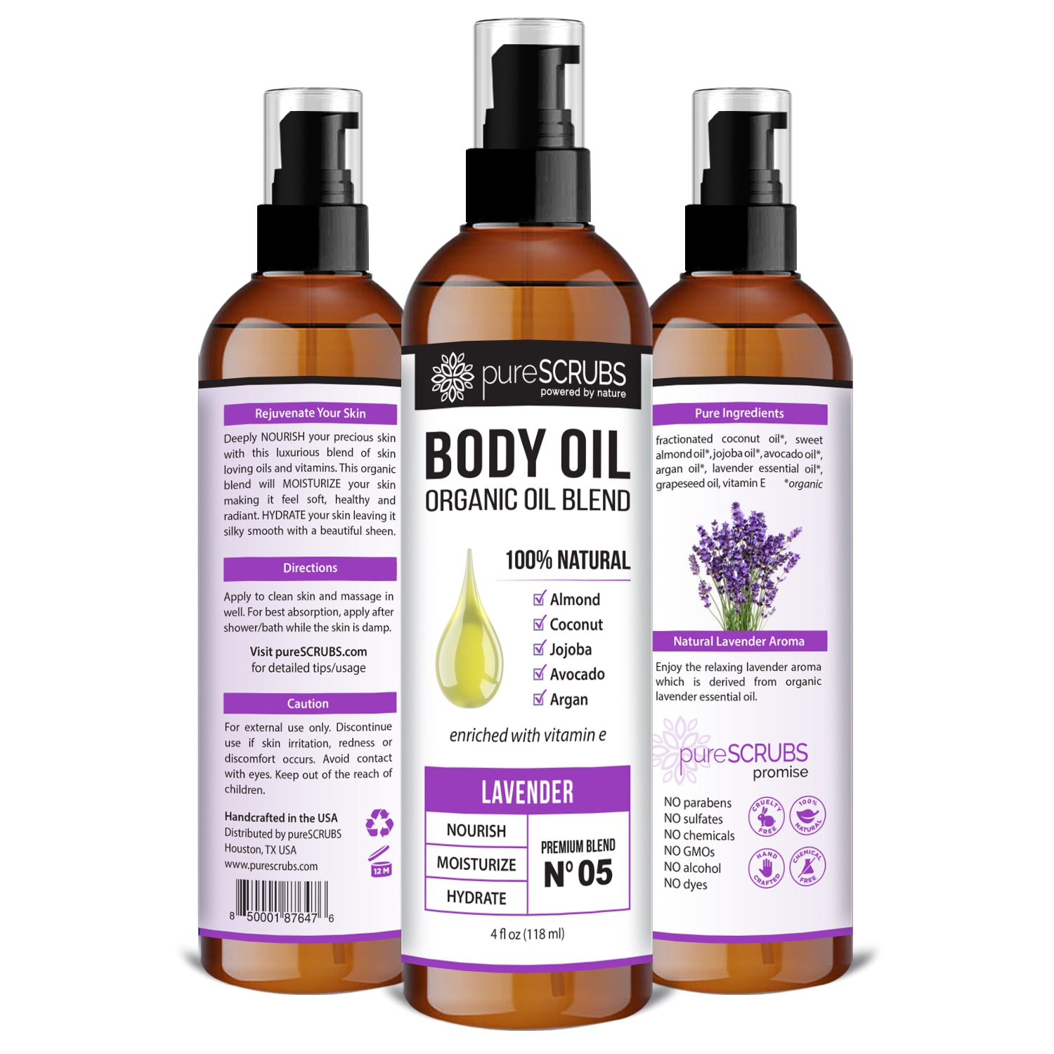Lavender Body Oil / Ultra Moisturizing / Premium Blend #02
