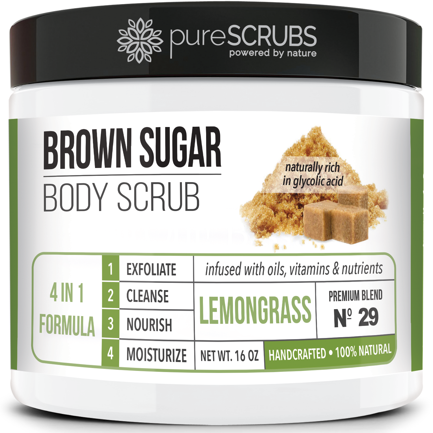 Lemongrass Body Scrub / Brown Sugar / Premium Blend #29