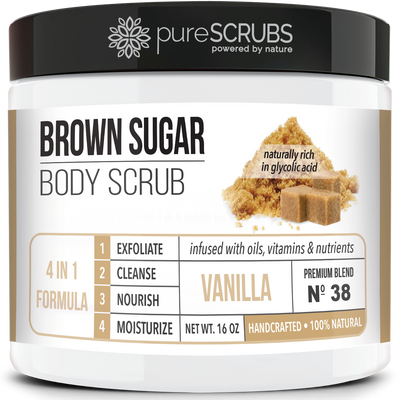Vanilla Body Scrub / Brown Sugar / Premium Blend #38
