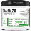 Cucumber Body Scrub / Dead Sea Salt / Premium Blend #22