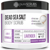 Lavender Body Scrub / Dead Sea Salt / Premium Blend #17