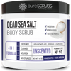 Unscented Body Scrub / Dead Sea Salt / Premium Blend #10