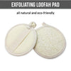 Exfoliating Loofah Pad With Handle 3 Inch Round (5 pack)