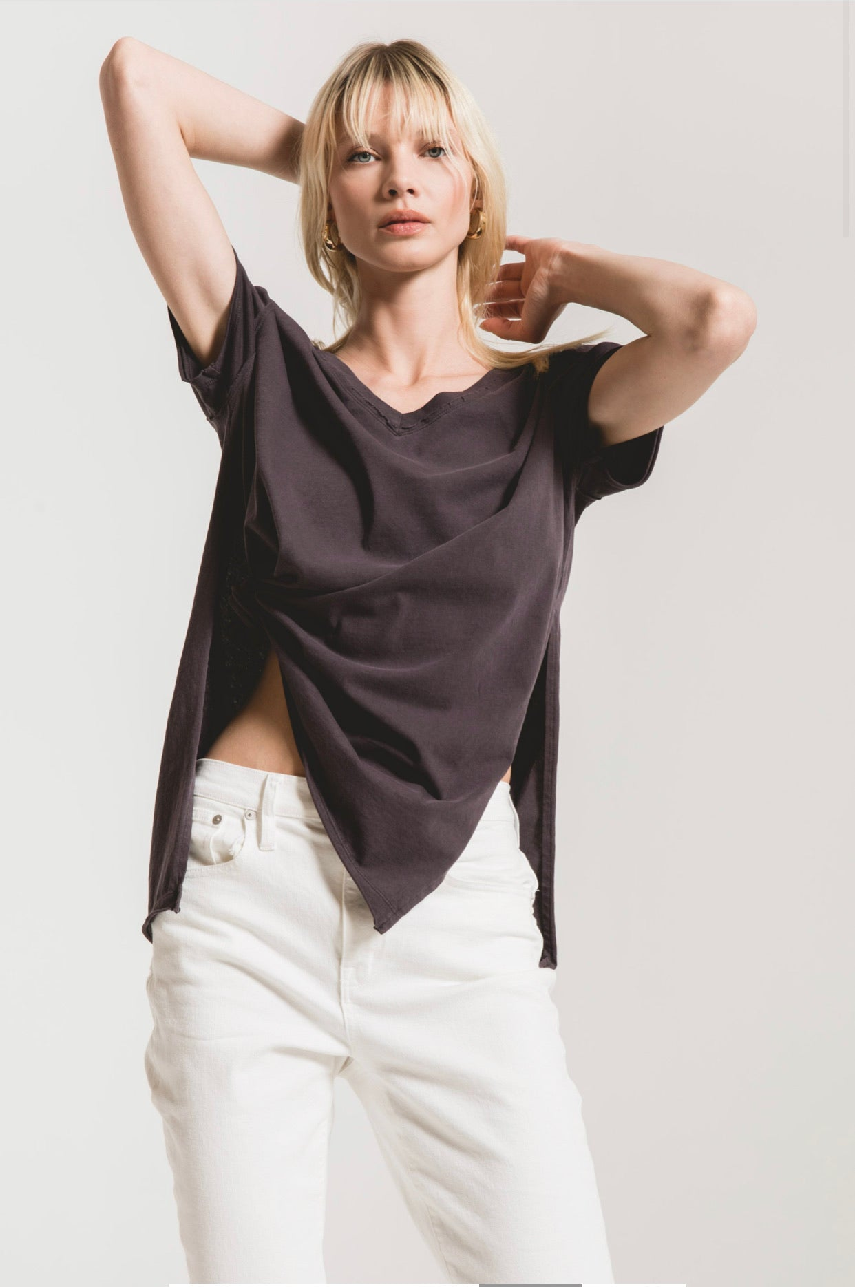 ORGANIC COTTON SIDE SLIT TUNIC