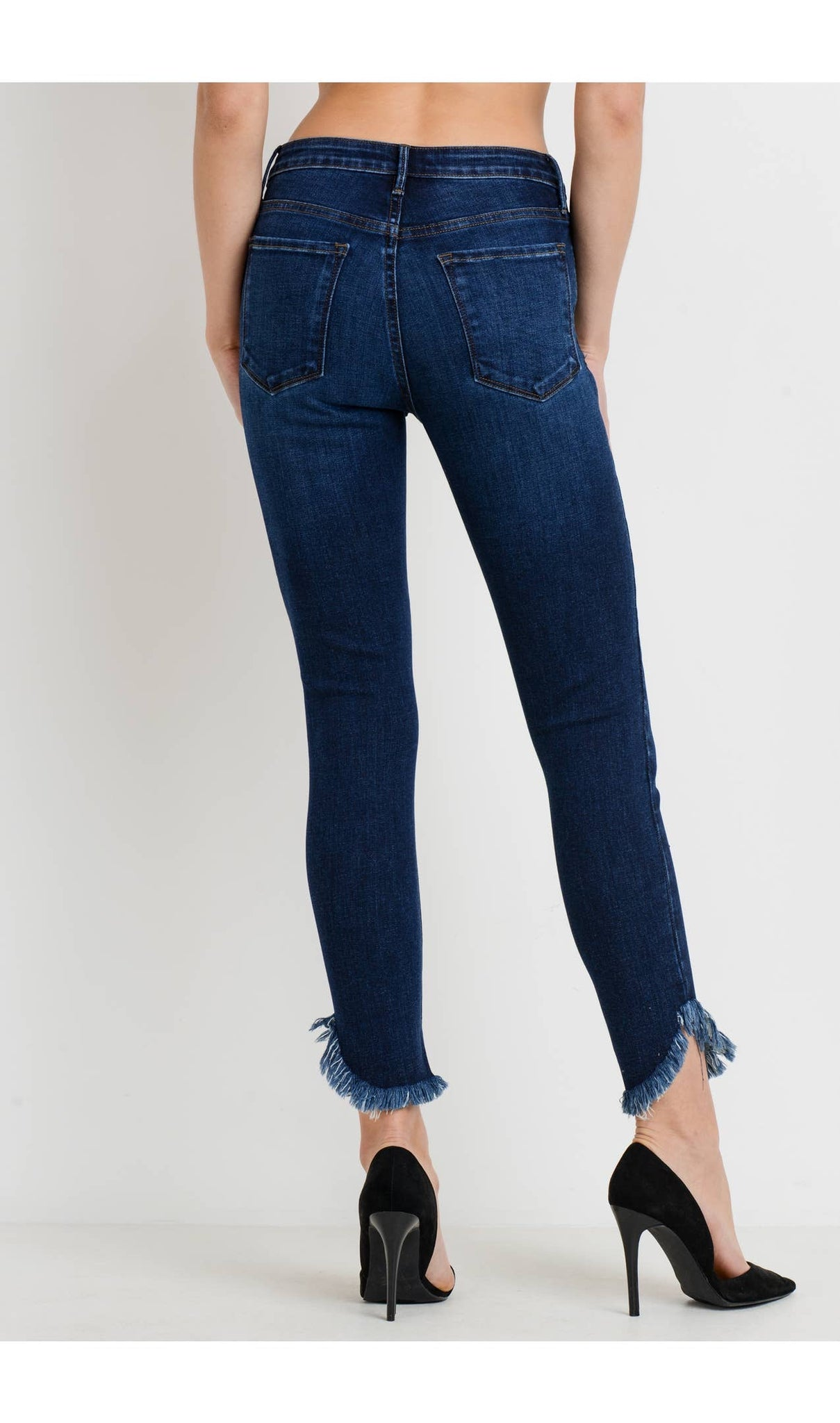 Medium Wash Denim Fringe