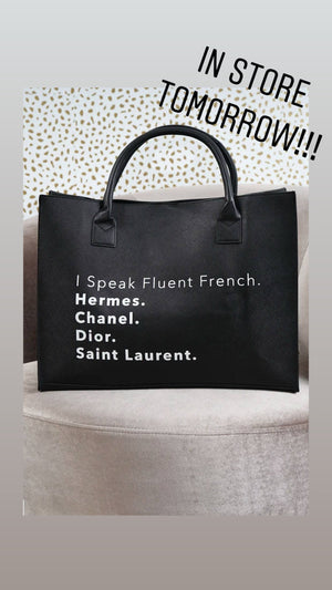 Fluent French Tote