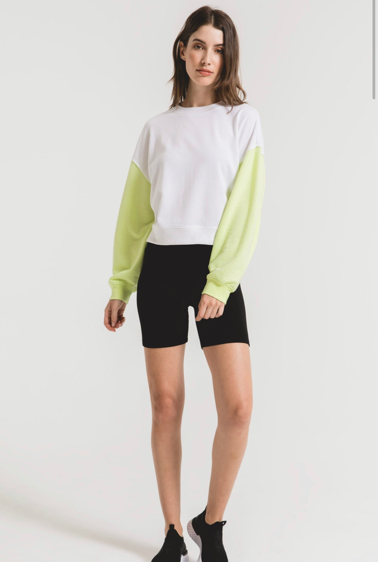 COLORBLOCK NEON SLEEVE SWEATSHIRT