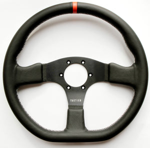 Flat bottom steering wheel with 12 o'clock marker from Tactico Racing Atelier