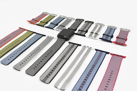 Colorful Woven Nylon Apple Watch Bands - The Ninth Co
