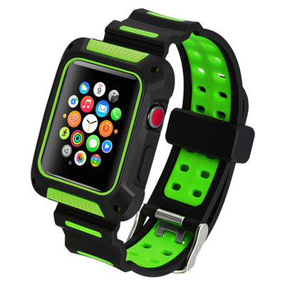Sports Edition Silicone with Protective Case Apple Watch Bands - The Ninth Co
