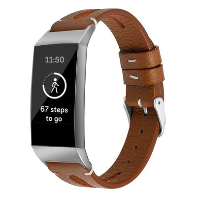 Classic Leather Fitbit Charge 3 Bands - The Ninth Co