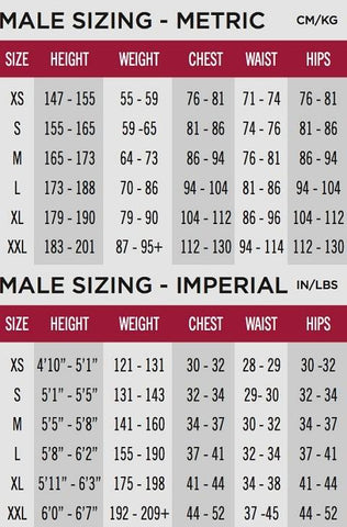 Huub Wetsuits Size Guide