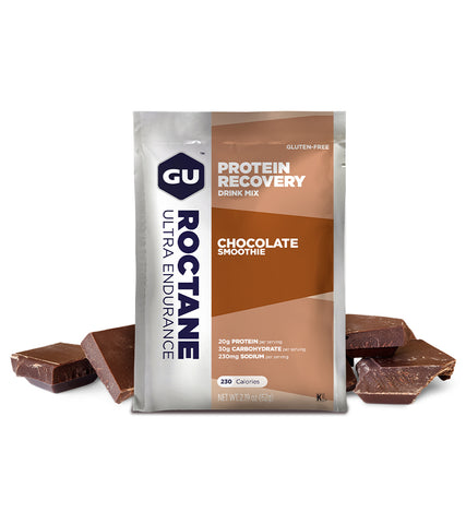 GU Recovery Drink Mix Box sachet Chocolate Smoothie
