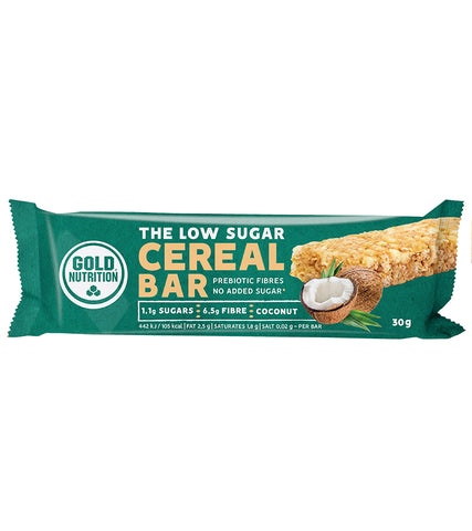 Gold Nutrition Low Sugar Cereal Bar Coconut - 30G