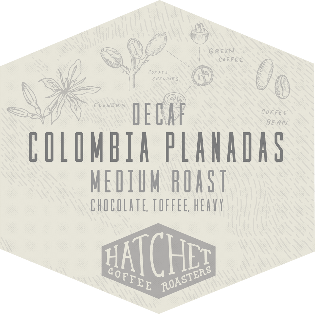 Decaf Colombia Planadas: 1 bag per 2 weeks for 3 months