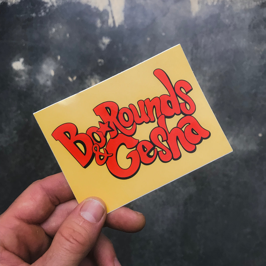 Bo•Rounds & Gesha Sticker