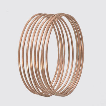 Set of 10 Solid Copper Bangles