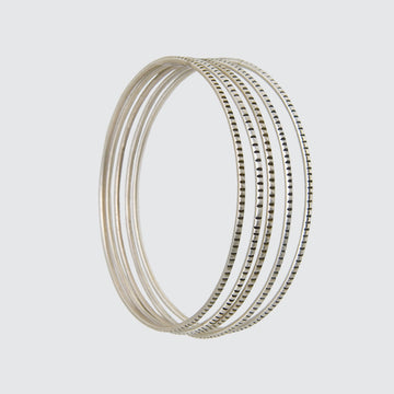Grooved Bangles Set of 5