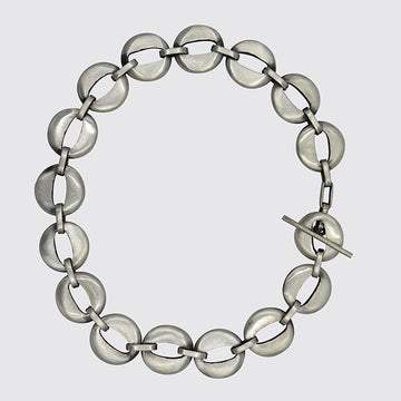 Small Cut-Out Circle Links Bracelet