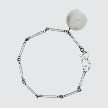 Short Bar Chain Bracelet with Disc