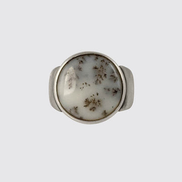Dendrite Opal Ring In Size 6