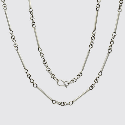 Sterling Silver Bar Chain - PJ1396