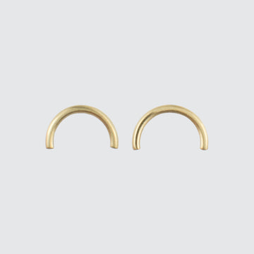 Golden Arc Stud Earrings in Gold