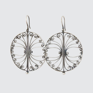 Handmade Filigree Circle Earrings