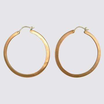 Large Flat Hoop Earrings