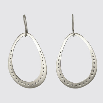 Organic Oval Drop Earrings