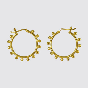 Granulated Hoop Earrings
